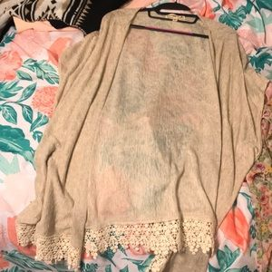 Sweaters - Beige Tan Cardigan Lacey